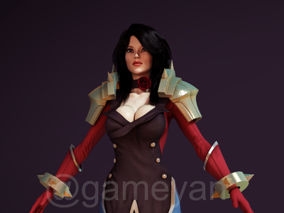 Character Modeling and Texturing Studio by Gameyan - Female Fant game character animation character design studio 3d animation studio character