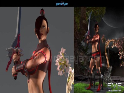 3D Eve Lady Warrior – 3d character development for Games