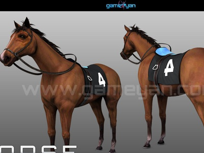 3D Horse Animal Character Modelling With GameYan Studio
