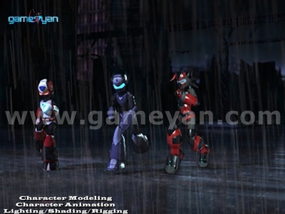 Android Hunter Game Character By Film Production Company