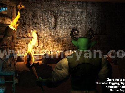 Ancient 3D Character Modeling Poster By Film Production Company