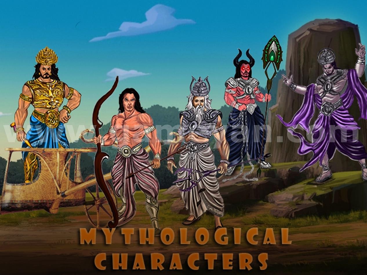 Mythological characters animation modeling design mahabharat models