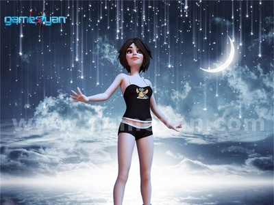 Abby Cartoon Model by Game Art Outsourcing Studio