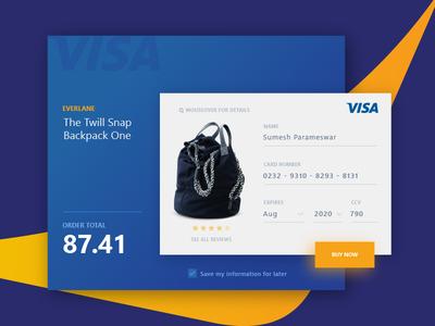 Visa Credit Card Purchase Pg