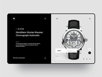 Montblanc Watch Purchase Page Ui