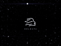 Logo and animation design for the big data industry:KOL-Data stars head line face kol data particle technology light logo ae motion animation