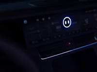 Li Auto voice assistant in the car interface basketball moon rain talk driver personification circularity technology smart voice assistant hmi car ae ui motion animation