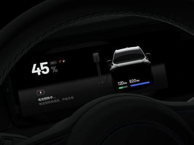 The HMI of a new energy vehicle in a charging digital current suv battery charging car light ui motion animation hmi