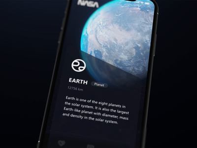App for galaxy galaxy icon star sun saturn earth moon ae ui motion animation space nasa