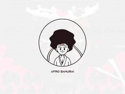 Angry Afro Samurai animation ribbon black illustration warrior samurai anger afro angry ae motion animation