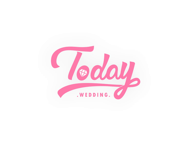 Wedding custom service company logo diamond day wedding dress jewelry makeup movie icon animation motion wedding logo
