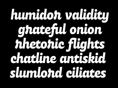 Script Typeface Experiment sans serif bold font lettering script type type design