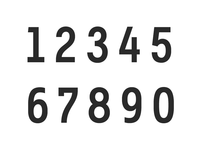 Untitled No. 1 - Numbers