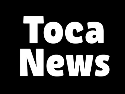 Toca News Wordmark logo sans serif rounded bold type design lettering wordmark