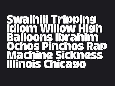 Inktrap Experiment – Lowercase WIP typeface font type fat sans serif bold type design
