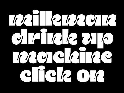 Playful Hippie Typeface Exercise font sans serif typeface type design hippie 70s retro type