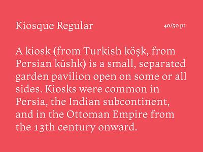 Kiosque Regular font roman typeface serif type type paris type design