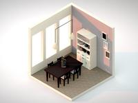 Isometric Dining Room