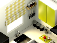 Isometric Kitchen Closeup