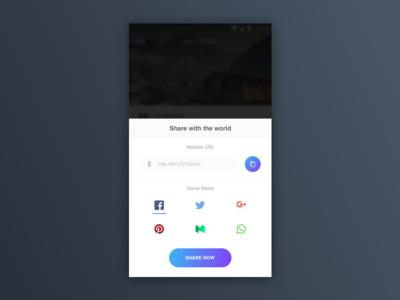Social share - UI Challenge material design daily challenge ui design android share link sharing social share