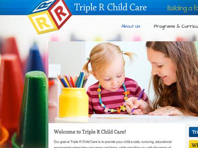 Triple R Childcare website