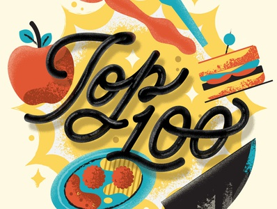 Top 100 meatball illustration chef sandwhich apple cooking food graphicdesign handlettering