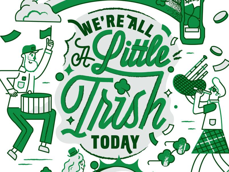 Irish Spring party st. patricks day irish graphic design typography handlettering illustration irish spring