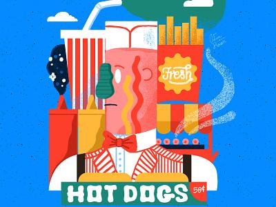 Frank milkshake ketchup hand lettering graphicdesign illustration food pickle man hotdog frank