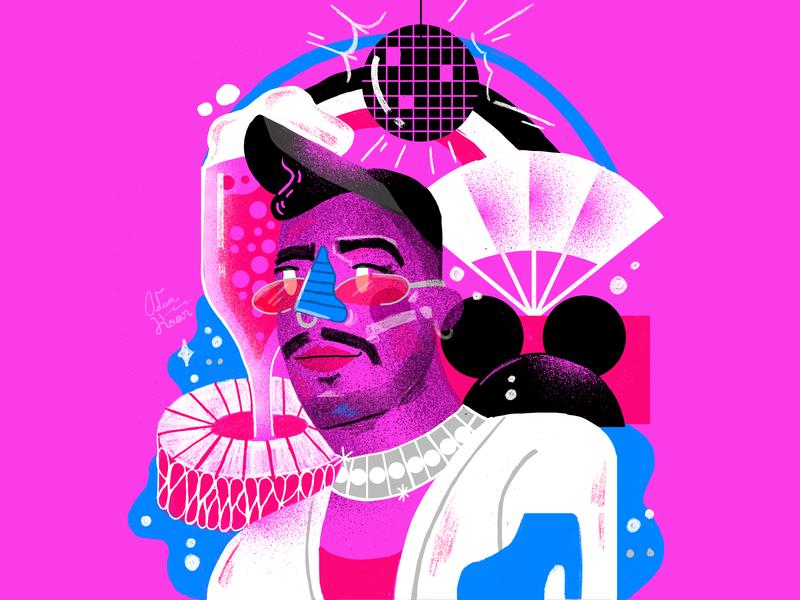 Christian Cimoroni man graphicdesign illustration fashion disco artist qeer lgbtq
