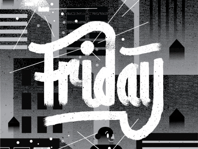 Friday fun nyc characters weekend city graphicdesign handlettering friday