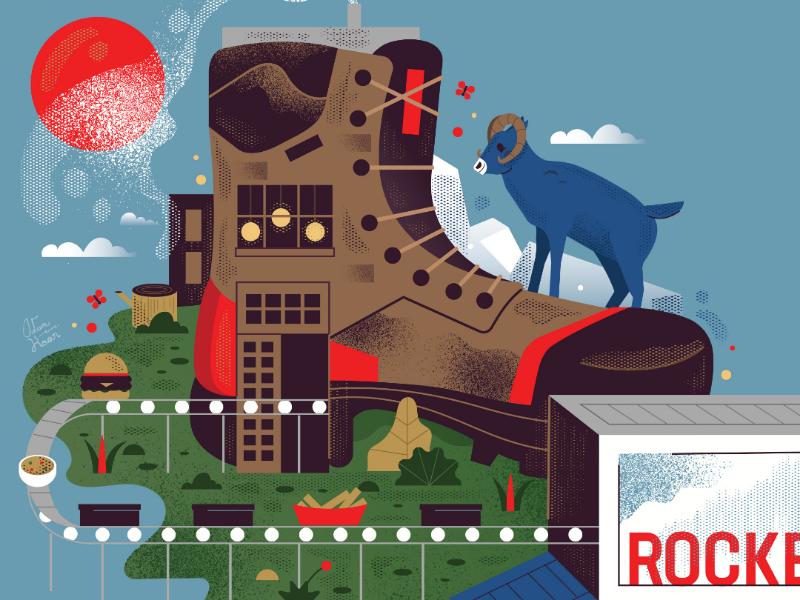 Rockey Boot plants truck nelsonville ohio food factory ram animal boot