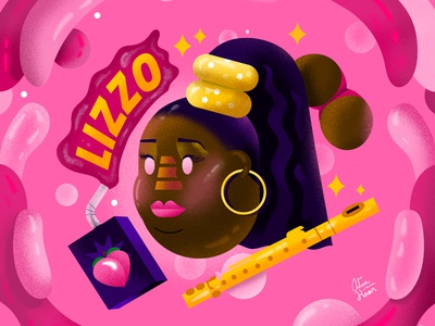 Lizzo lizzo float graphicdesign booty woman character illustration lettering music