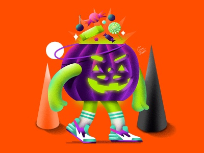 Jack graphicdesign halloween illustration 3d sneakers candy jackolantern