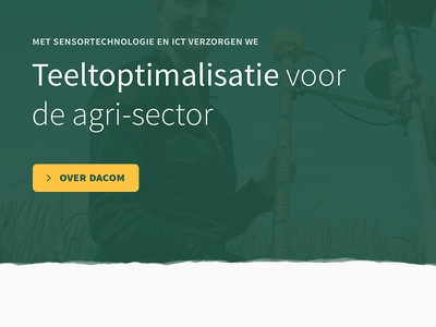 Dacom website brush green header large website ui navigation list