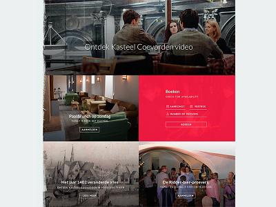 Impression Castle castle website ui photography overlay red tiles