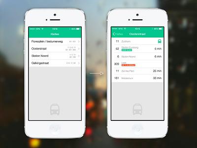 Minimal bus app ios native list bus iphone