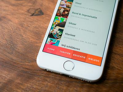 Safari iOS navigation navigation ios css mobile list thumbnails thumbs theater