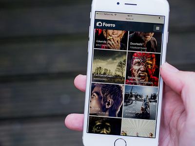 Photography community mobile photos thumbnails ui ios iphone 6 photography