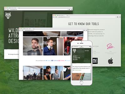 Studio Wolf launch live website responsive photos