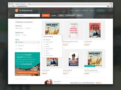 Bibliotheek biblionet interface web thumnbails
