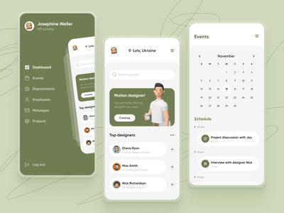 HR Management App management modern events application ui concept mobile design hr app calendar uiux ux design mobile app design ui design mobile ui app management app hr management design mobile app ux ui