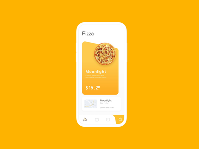 Custome Pizza Interaction animation ux ui