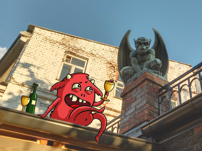 The devils are in town! cg graphic digital design cgart art illustration