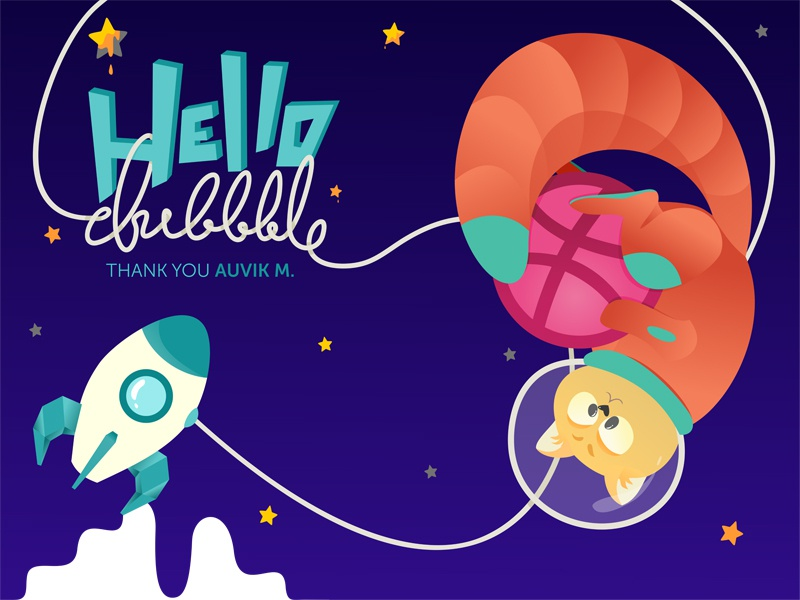 Hello Dribbble, I'm Alena! hello dribbble hello debut web app flat vector illustration