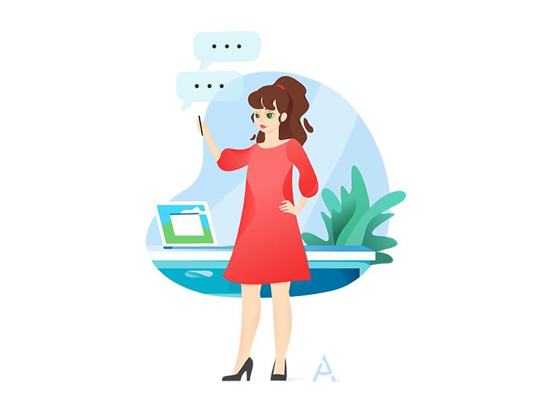 finteh vector illustration_2 digital cgart design art web app vector illustration flat