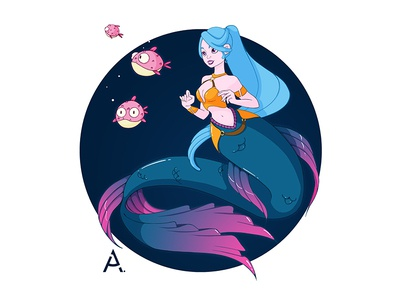 Mermaid - Fish hunter