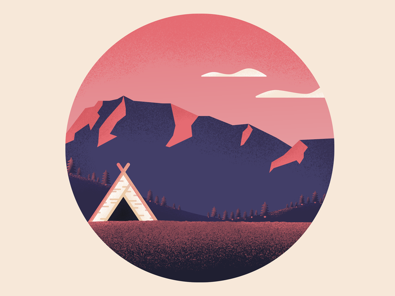 Quiet adobe illustration illustrations mountain shade landscape vector shots shadows photoshop illustrator flat grainy dribbblers dribbble design