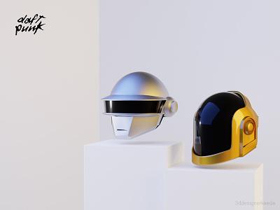 Daft Punk - Tribute web design animation 3dartist daftpunk 3dart 3d webillustration webdesign 3d illustration 3d character design cinema4d 3dillustration blender3d 3d character illustration