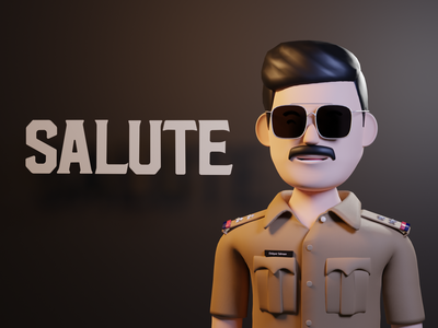 SALUTE - 3d  poster of a Malayalam movie malayalam polygon runway lowpoly c4d 3d character design cinema4d poster design movie webdesign 3d illustration 3d character 3dillustration webillustration illustration