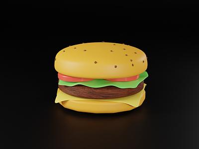 3d burger color app uidesign uxdesign graphic design lowpoly branding webillustration webdesign c4d 3d art cinema4d 3dillustration 3d character design illustration blender3d
